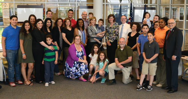 Ferndale Schools Board of Education with family