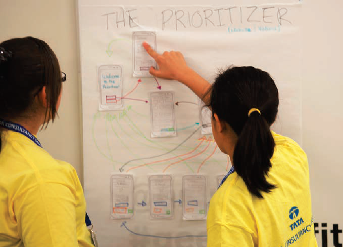 Students use The Prioritizer to determine app functionality