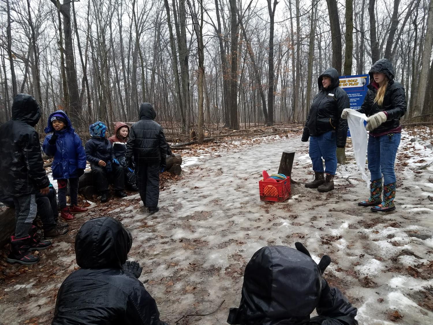 4th graders learn about Michigan winter