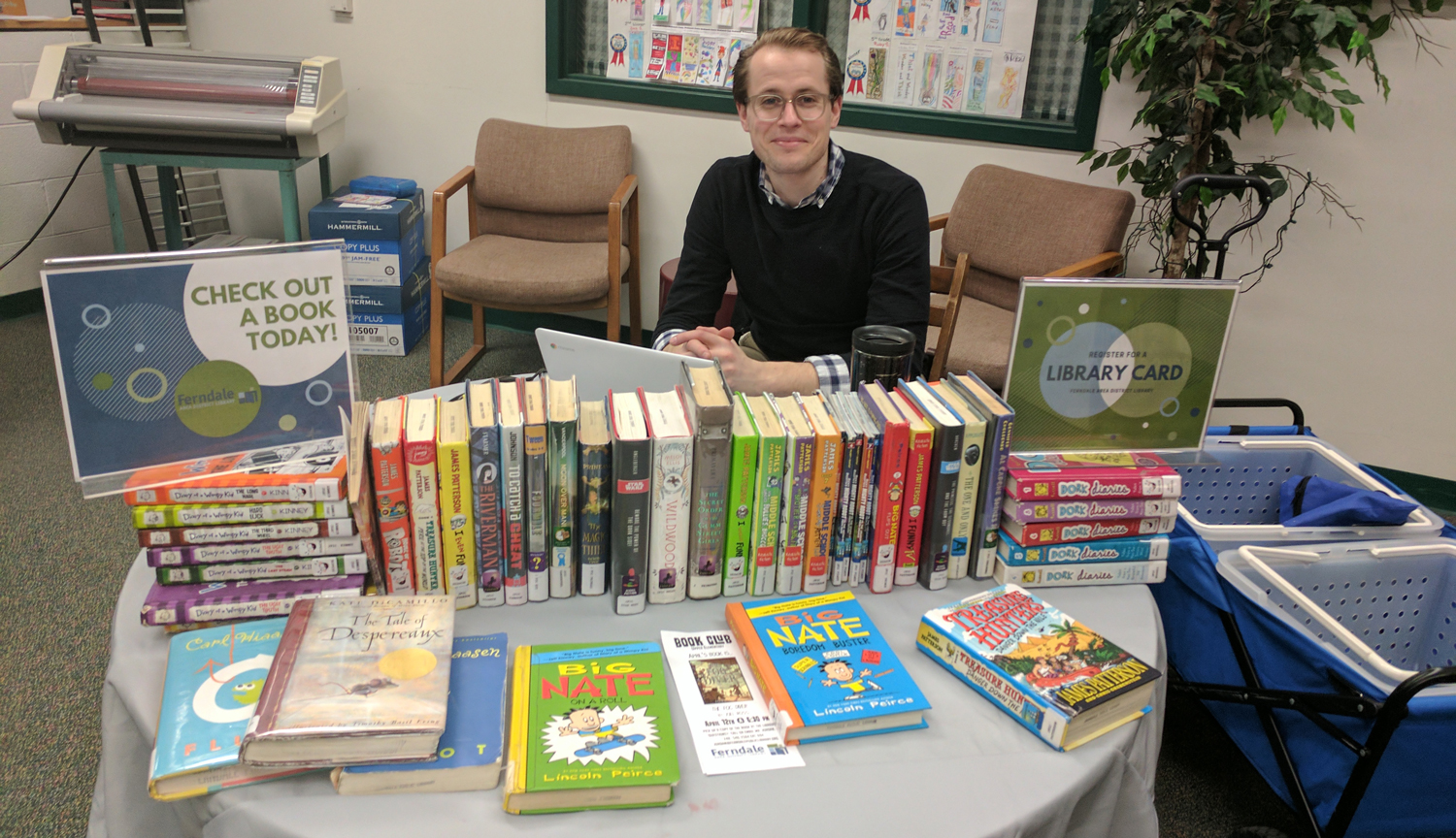 The Ferndale Library set up a table at Elementary Reading Night.